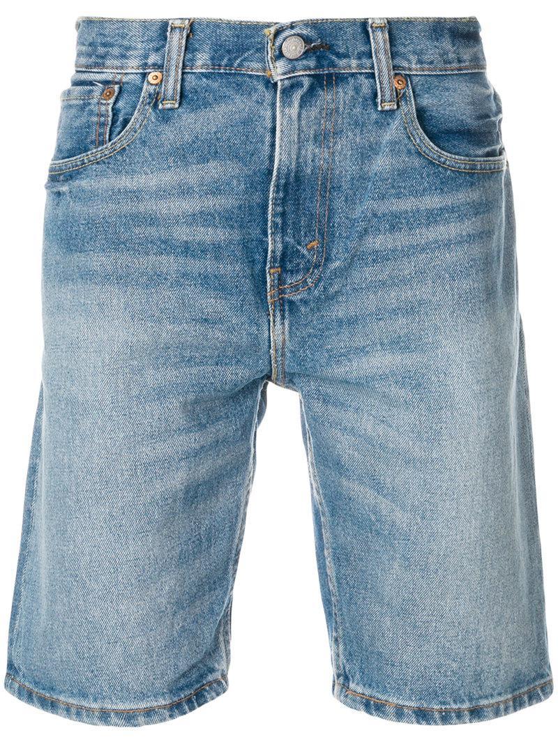 a80ed2c2 Levi's 502 Regular Taper Fit Hemmed Bob Shorts in Blue for Men - Lyst