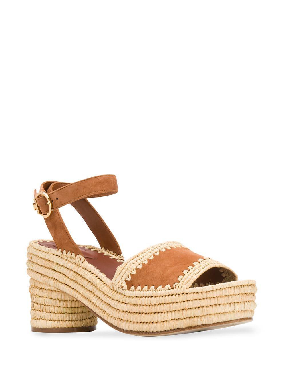 d3642a072387 Lyst - Tory Burch Platform Sandals in Brown