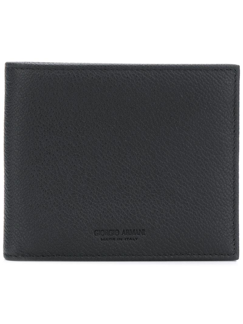 3d63d5462 Billetera clásica Giorgio Armani de hombre de color Negro - Lyst