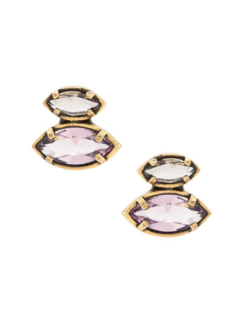 Camila Klein long embellished earrings - Metallic nNPxZf4fJI
