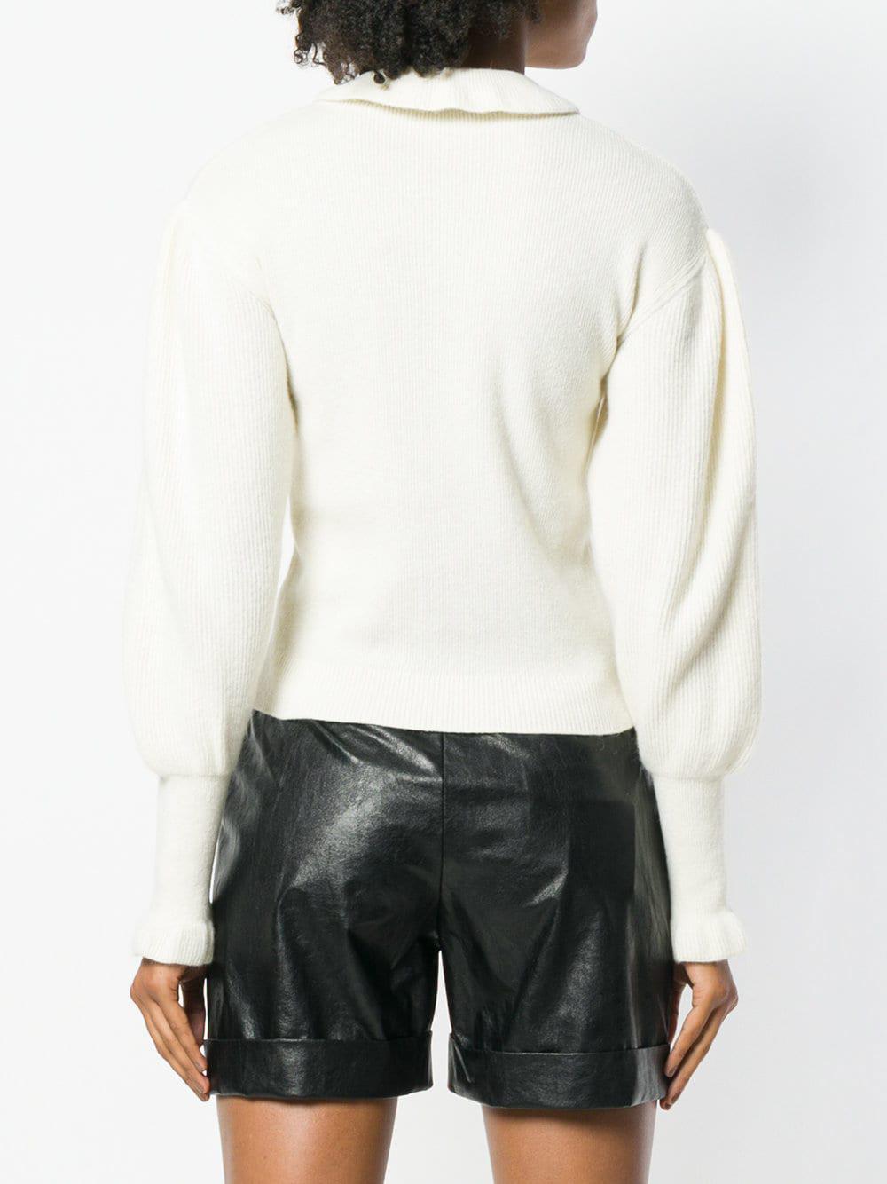 Fullscreen Lyst Philosophy Fold Di Lorenzo Serafini White View Sweater Collar 1PZ6BzqPw