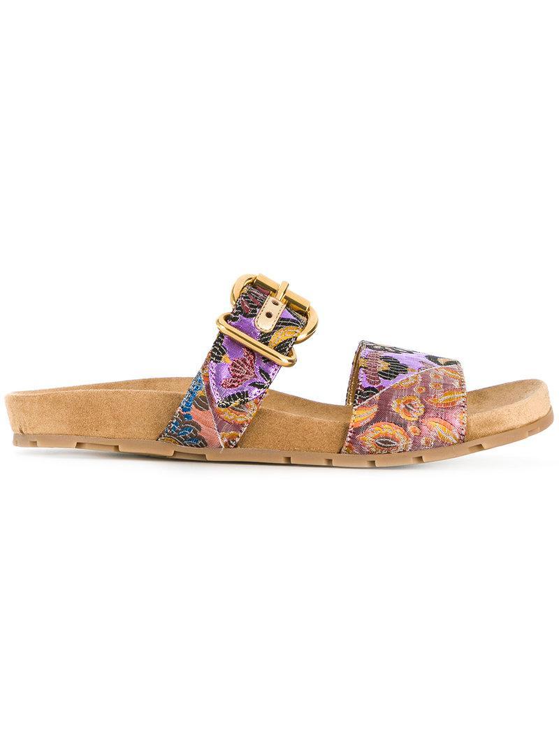 floral jacquard sandals - Multicolour Prada kD5PvW