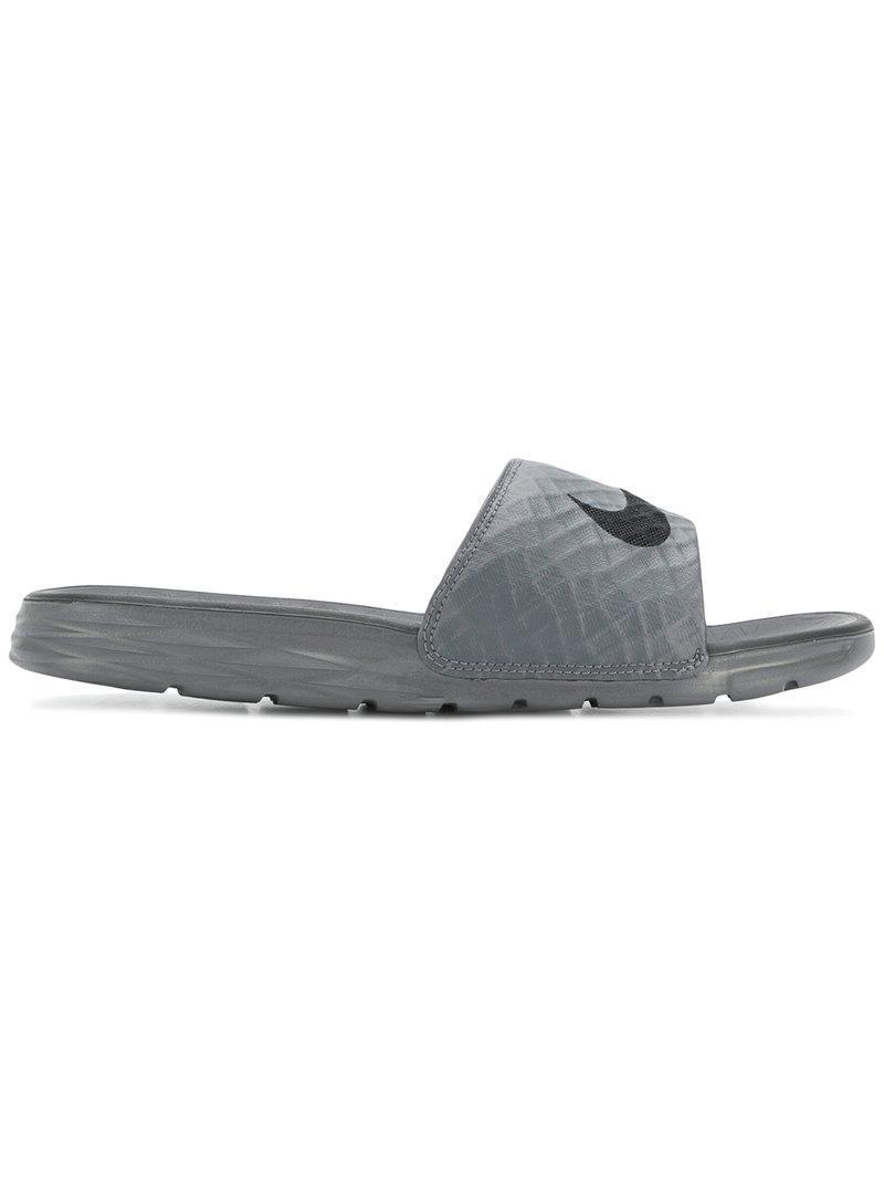 ccac197d2f660 Lyst - Nike Benassi Slides in Gray for Men