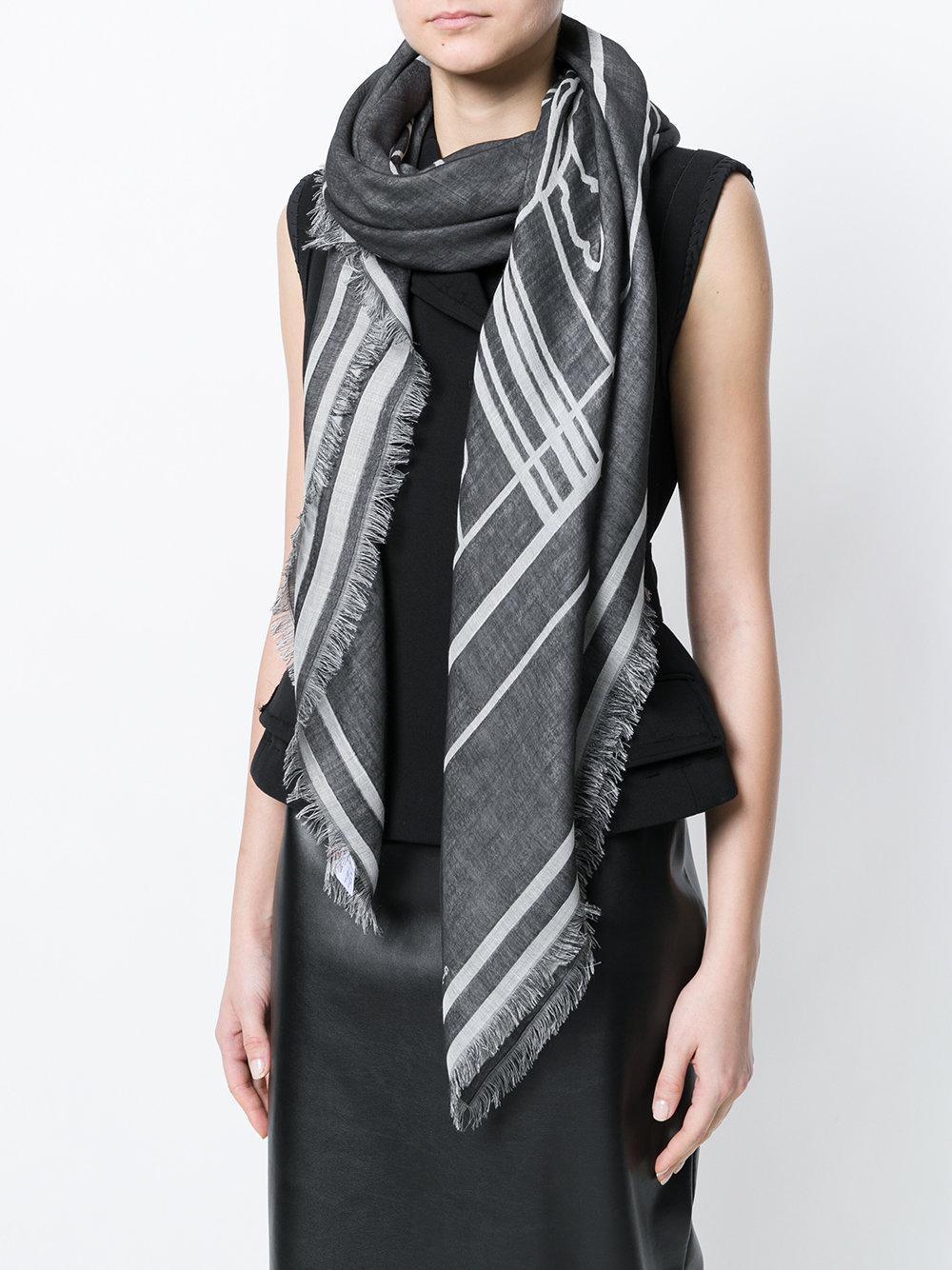 frayed star print scarf - Grey Givenchy dl4jfCaO
