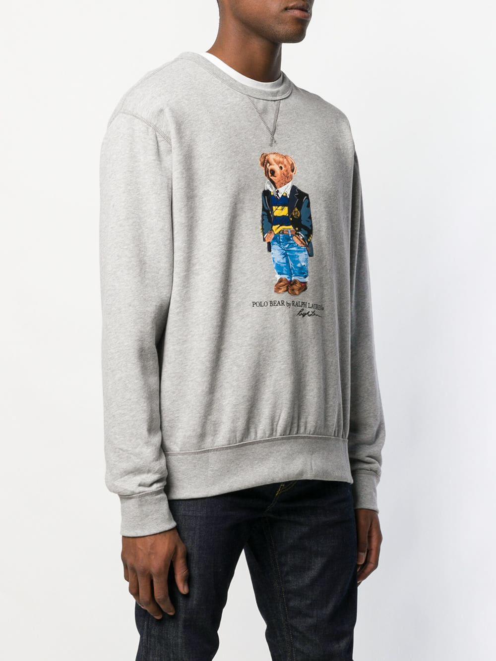 698160a90 Polo Ralph Lauren - Gray Polo Bear Sweatshirt for Men - Lyst. View  fullscreen