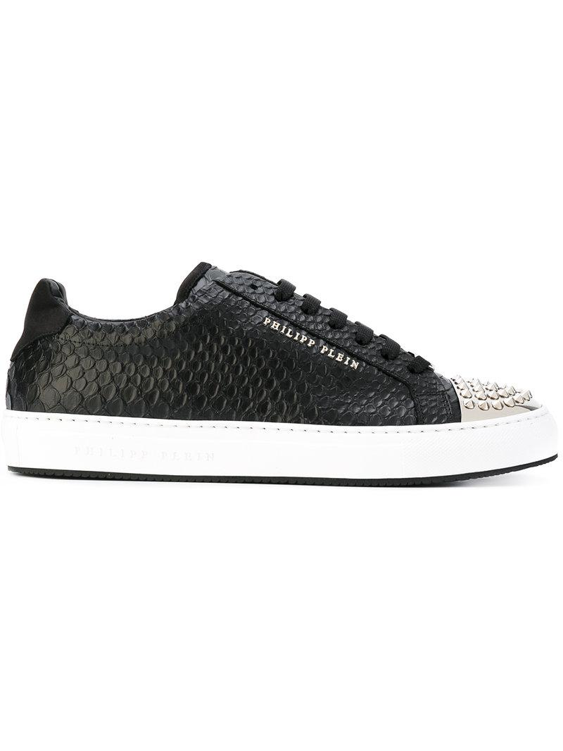 guys with iphones lyst philipp plein studded captoe snake effect sneakers 10753