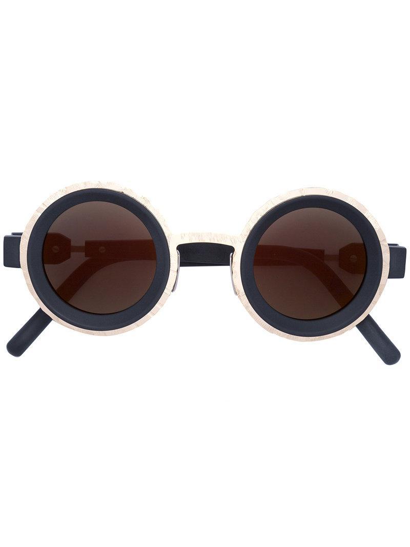0a90fb095a Kuboraum Round Frame Sunglasses in Black - Lyst