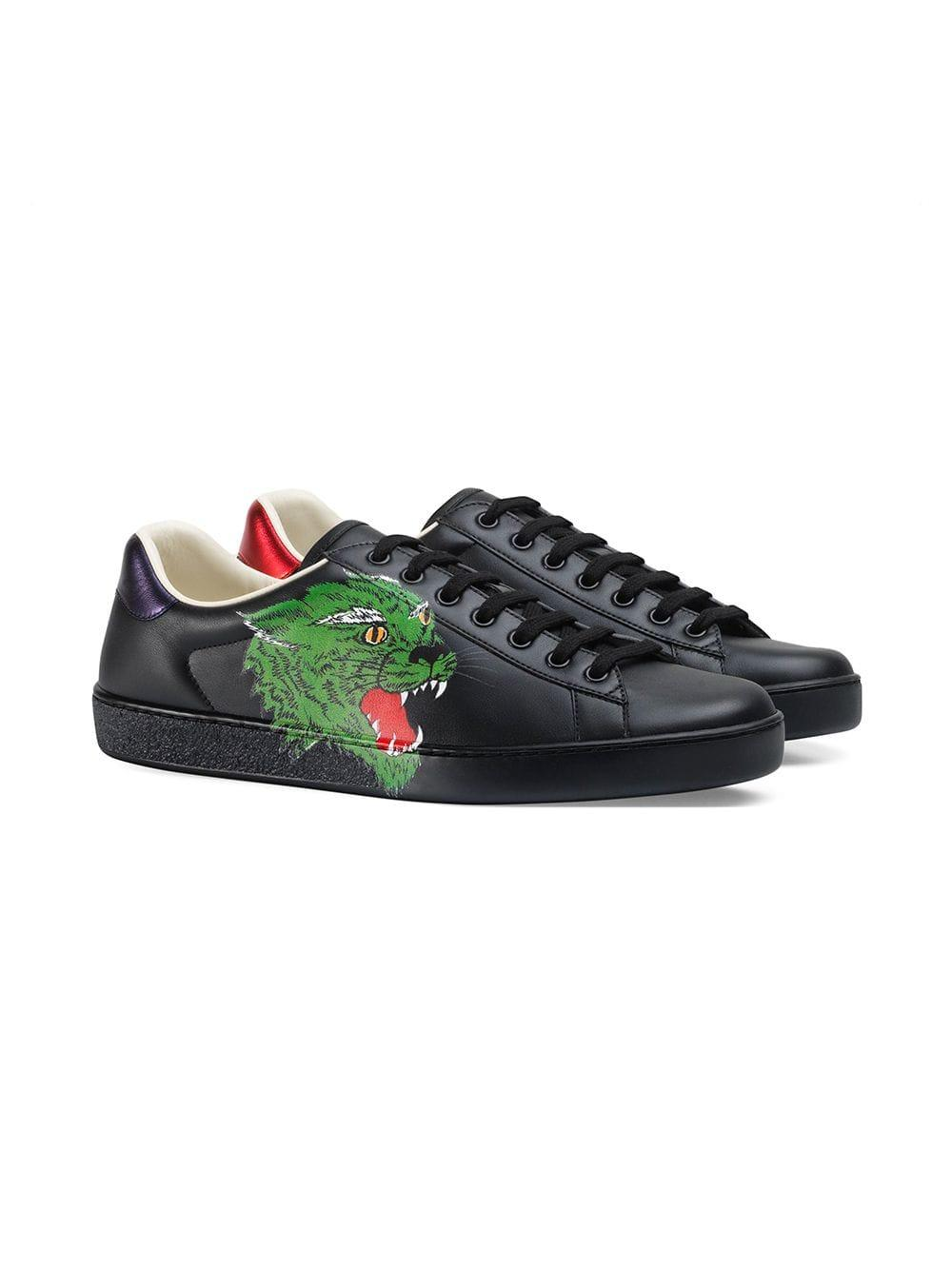 cee039521 Lyst - Gucci Ace Sneaker With Panther in Black for Men