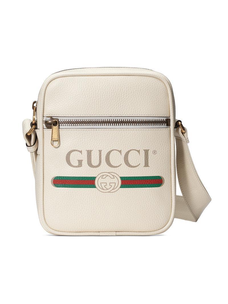 f0f3b940148 Gucci - White Print Messenger Bag for Men - Lyst. View fullscreen