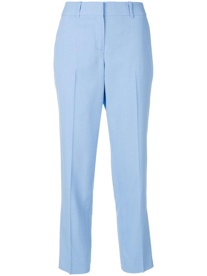 cropped tailored trousers - Blue Ermanno Scervino OQAVAp
