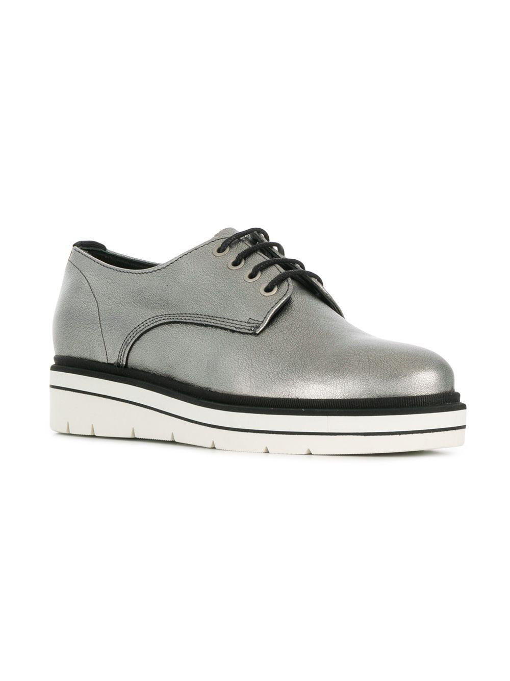 4fb5c5878c0 Lyst - Tommy Hilfiger Oxford Style Sneakers in Metallic