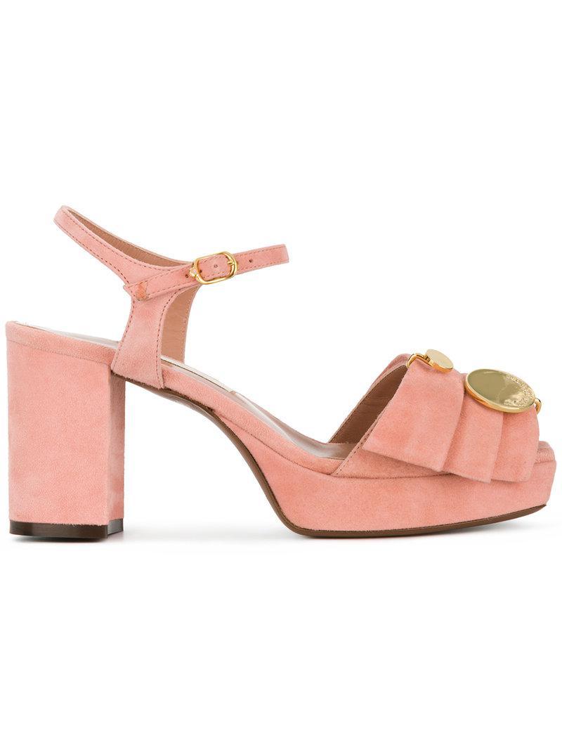 t-strap platform sandals - Pink & Purple L'autre Chose EjOwrbQj