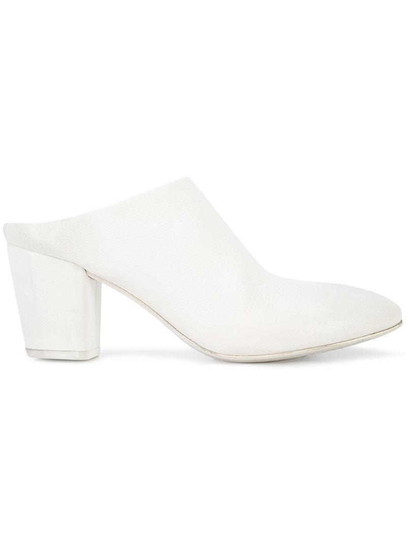 Marsèll lace-up block heel sandals - Metallic farfetch bianco Para Pre Barato m84YPXX9