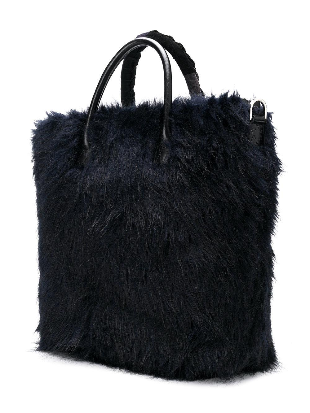 c6d5684708 Lyst - Sacai Furry Tote Bag in Blue