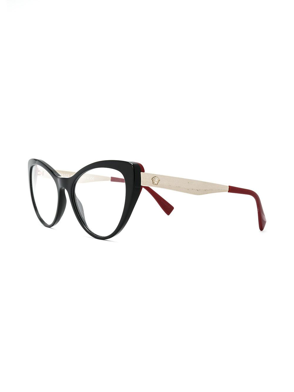 acfe1c7372b8d Lyst - Versace Classic Cat Eye Glasses in Black