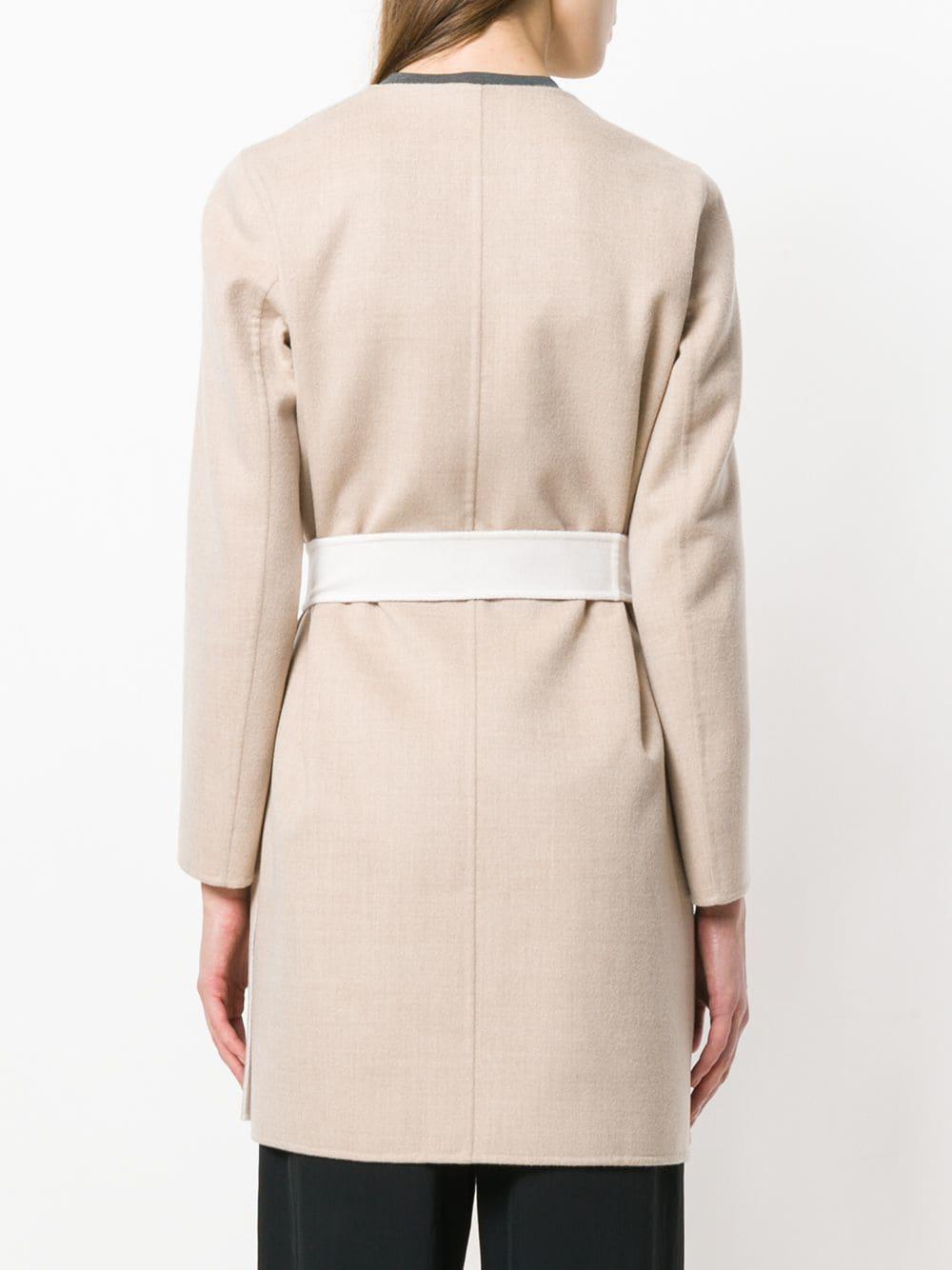 Max Mara Reversible Robe in Natural - Lyst 474885b21