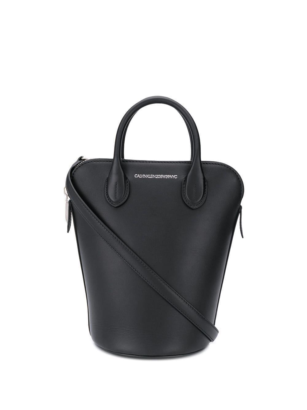 bd38ae2f55 CALVIN KLEIN 205W39NYC - Black Bucket Tote Bag - Lyst. View fullscreen