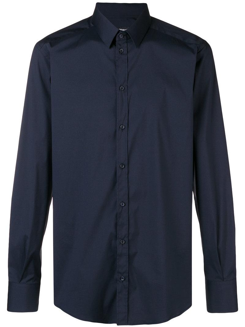 df6649251a8 Lyst - Dolce   Gabbana Button Down Shirt in Blue for Men