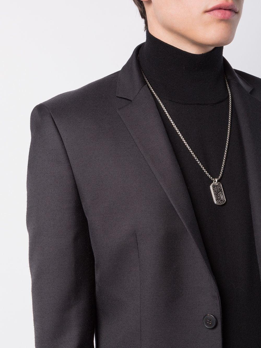 7f7f0034eea8 David Yurman Pavé Diamond Tag Enhancer in Black for Men - Save 1% - Lyst