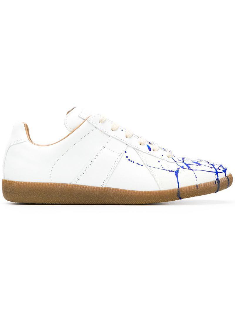 03839b2f0f56f Lyst - Baskets à effet taches de peinture Maison Margiela pour homme ...