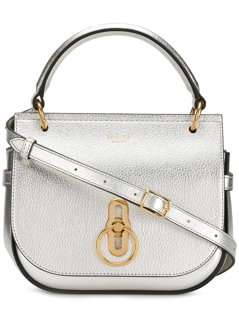 56ead8d5a584 ... low price lyst mulberry small amberley satchel in gray f09b7 38f9b