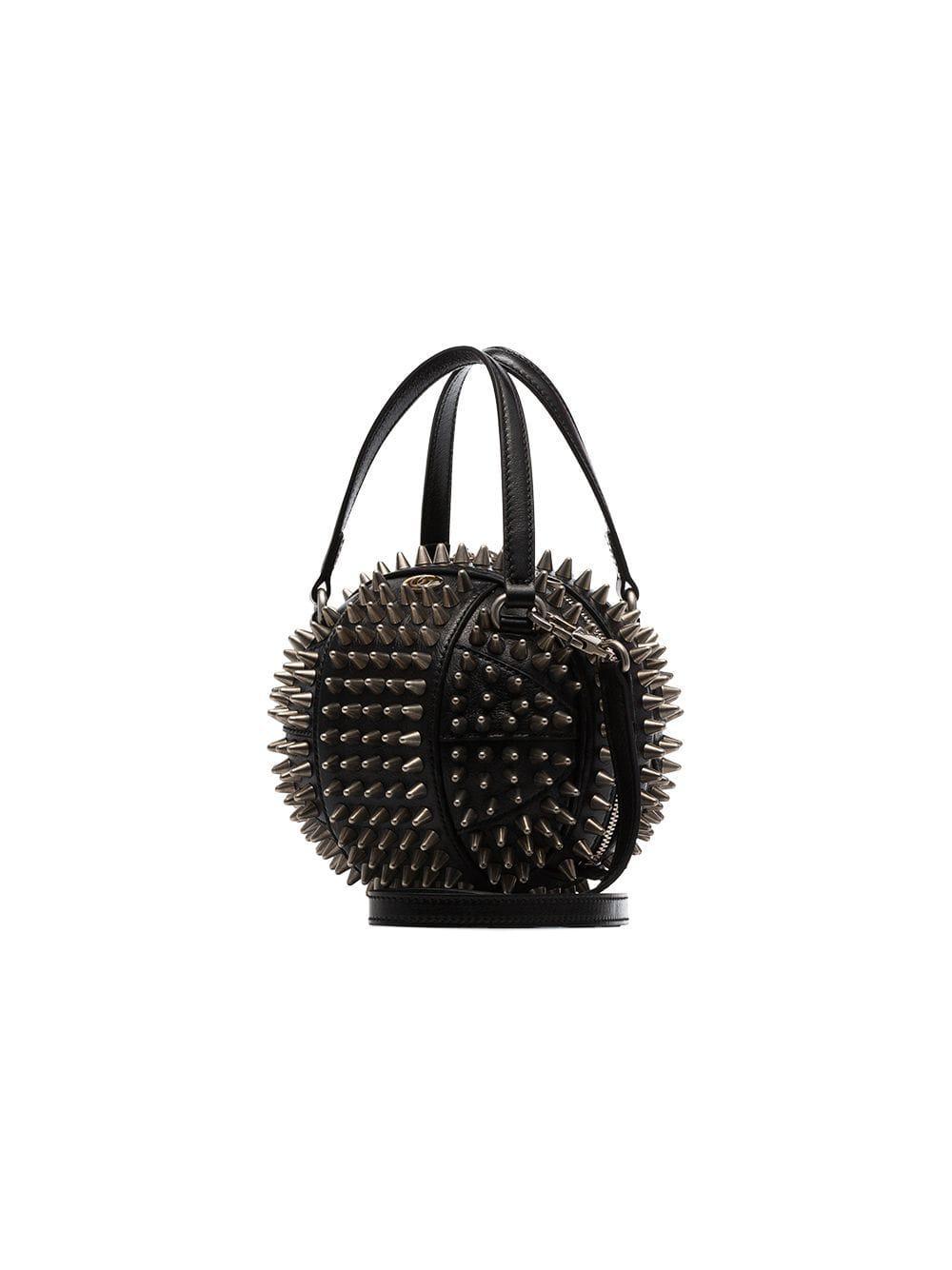 558c70cbb Gucci Black Tifosa Metal Studded Mini Bag in Black - Lyst