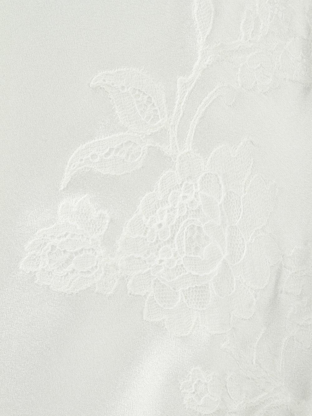 1071ebffcb75 Carine Gilson - White Lace V-neck Slip - Lyst. View fullscreen