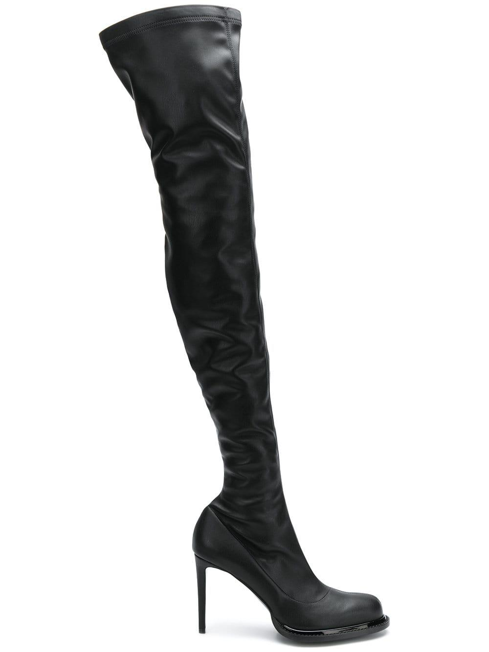 9c5e19d7ef6 Stella Mccartney Palmer Over-the-knee Boots in Black - Lyst