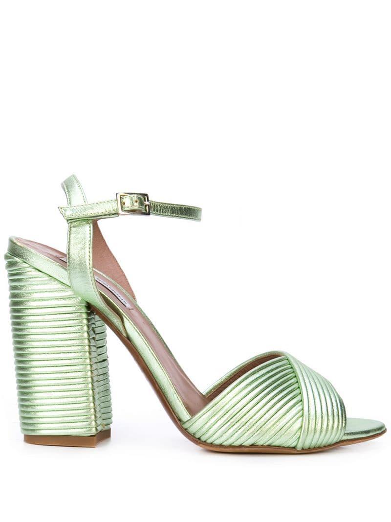 2f57f5a8013 Lyst - Tabitha Simmons Kali Sandals in Green