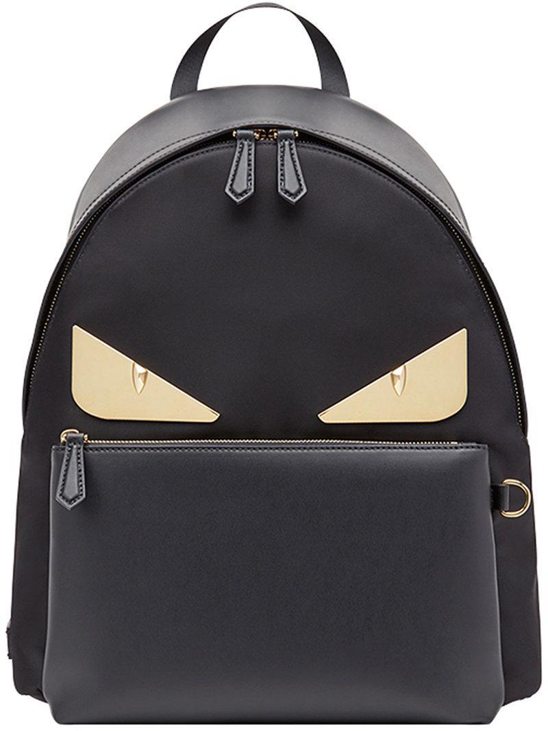 2d1643aa298c Lyst - Fendi Bag Bugs Backpack in Black for Men