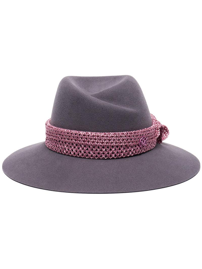 1cd98fdc954f9 Lyst - Maison Michel Grey Virginie Wool Felt Hat in Gray - Save ...