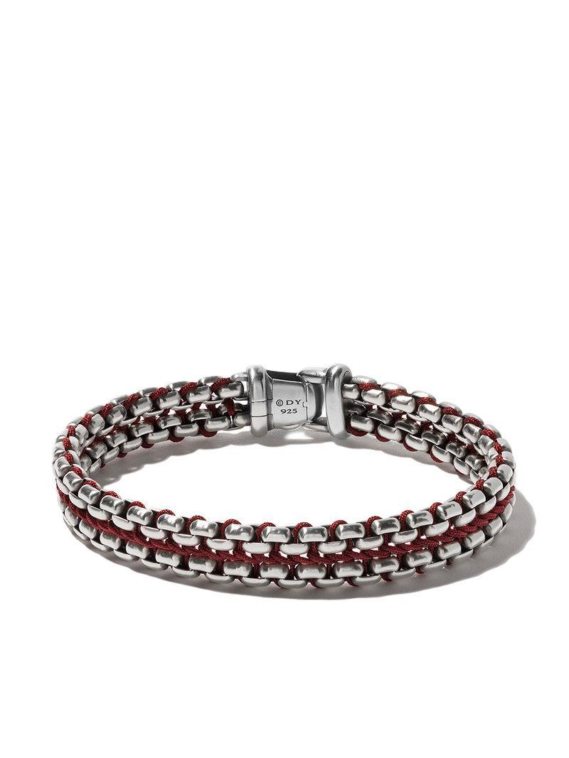 David Yurman Woven Box Chain bracelet - Metallic Lzkb0