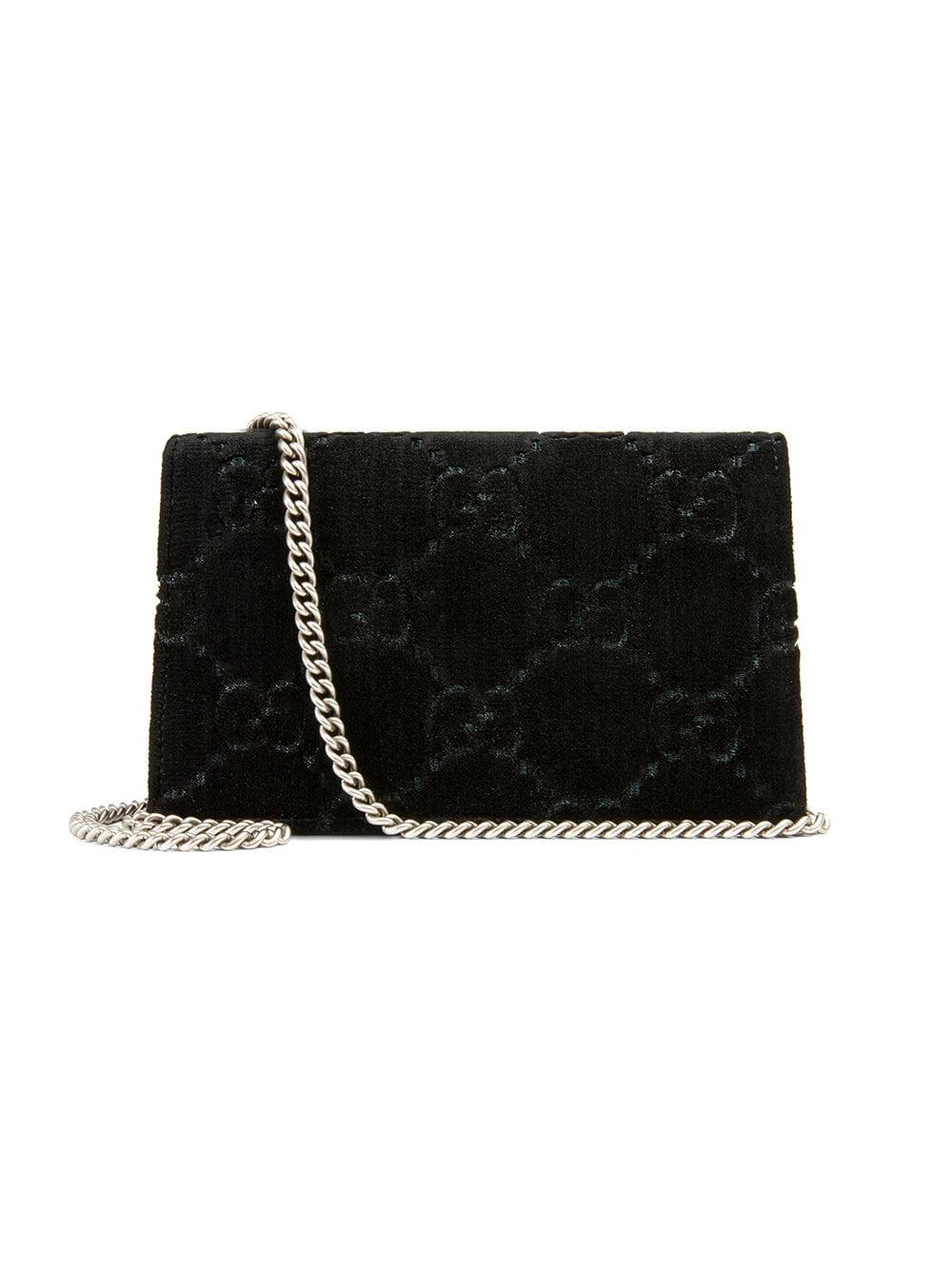 363652464 Gucci Black Dionysus GG Velvet Super Mini Bag in Black - Save 11% - Lyst