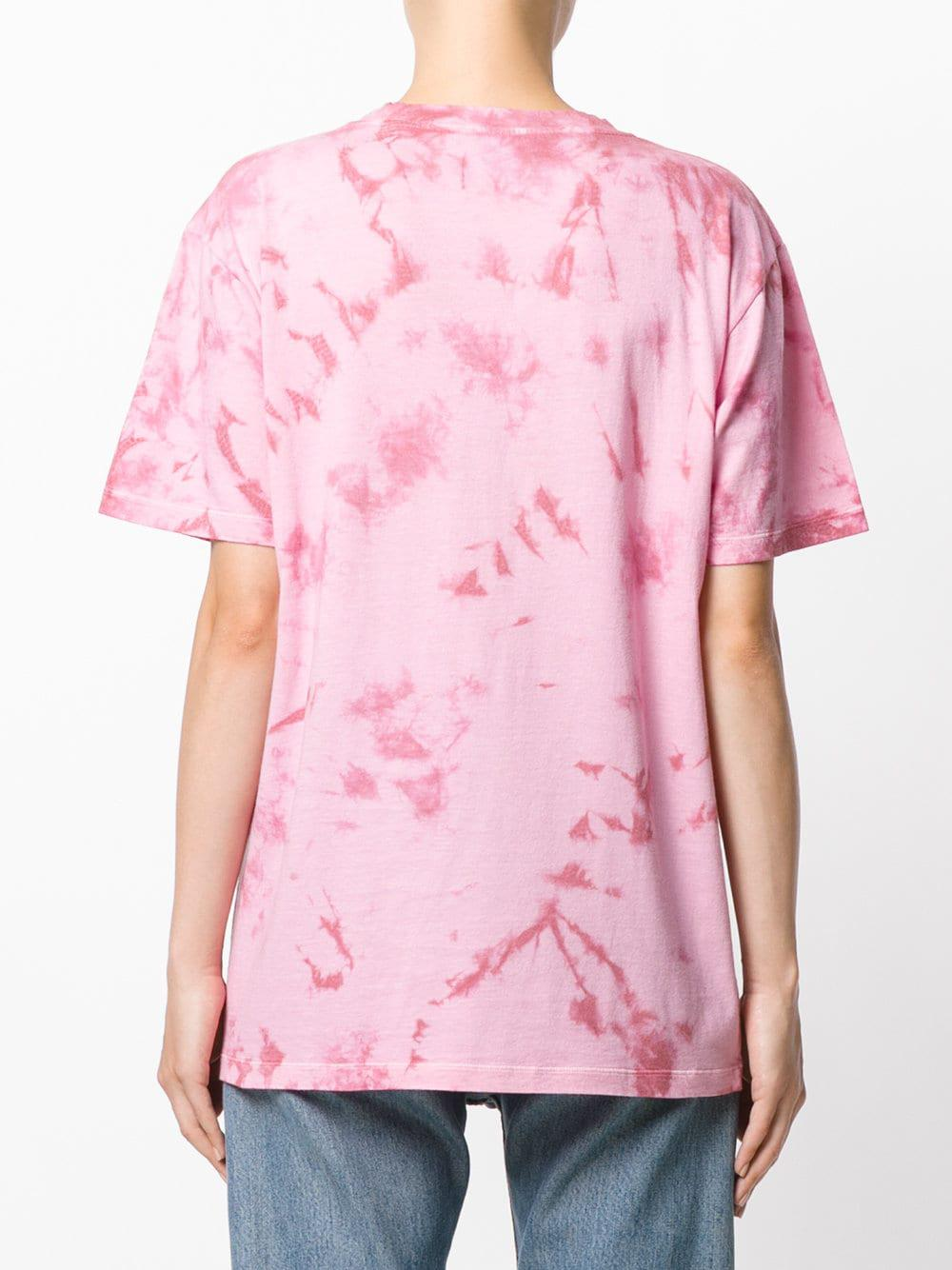 828504c9 Gucci - Pink Fish Embroidered Logo T-shirt - Lyst. View fullscreen
