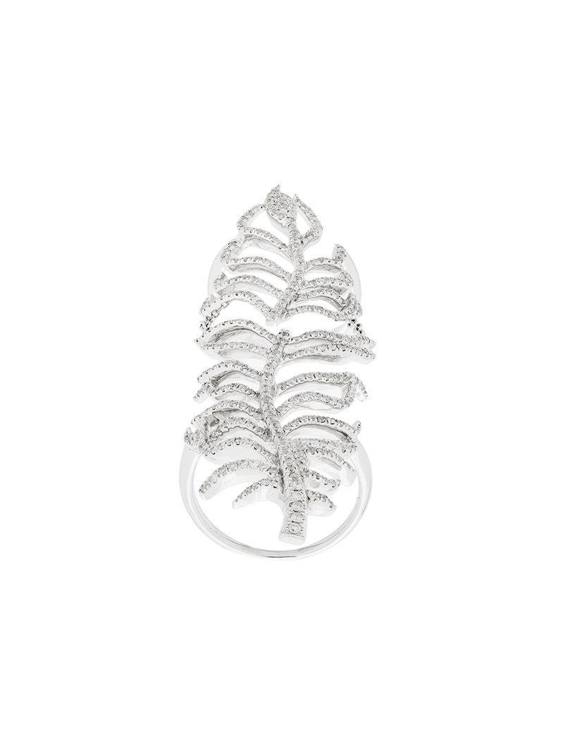 Elise Dray leaf cuff ring - Metallic qcqUWCN0Az