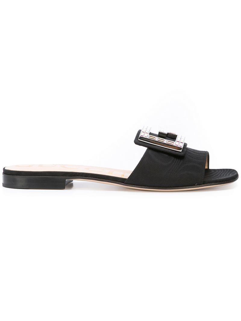 3d3f5cc93424 Lyst - Gucci Open-toe Sandals in Black