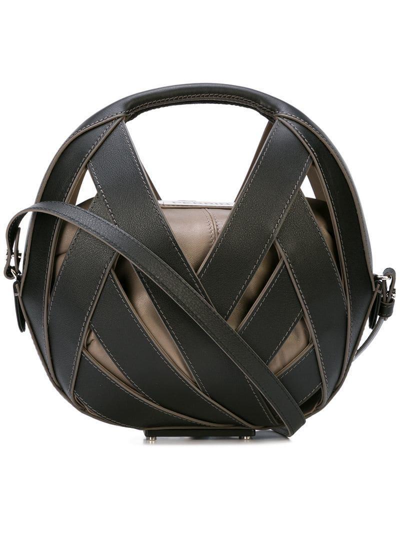 6759576dba Lyst - PERRIN Paris Le Petit Panier Bag in Black