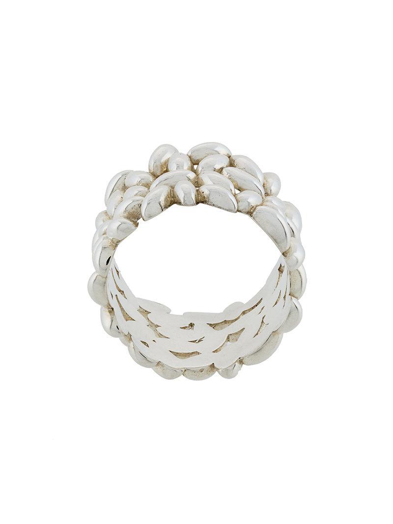 Bea Bongiasca rice grain cluster thin ring - Metallic 2AkdUB