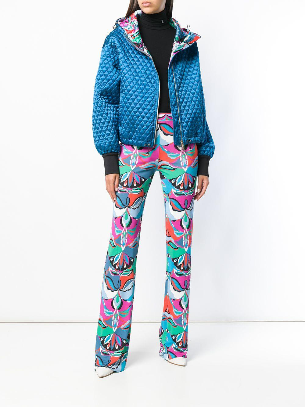 9b3ec52b8cbc Emilio Pucci Quilted Bomber Jacket in Blue - Lyst