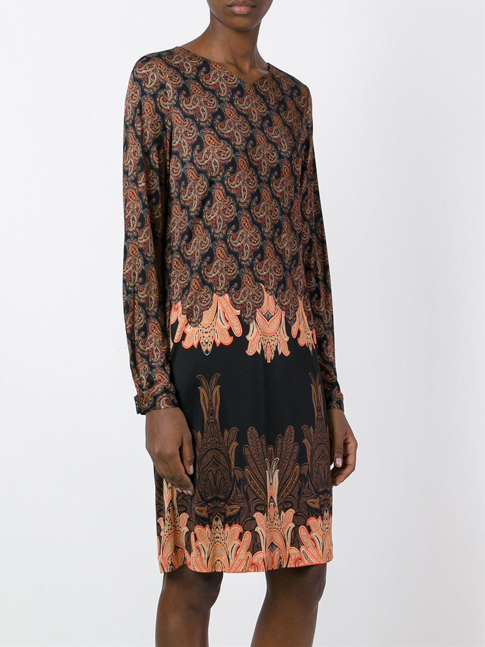 printed belted dress - Multicolour Etro UW2nsht