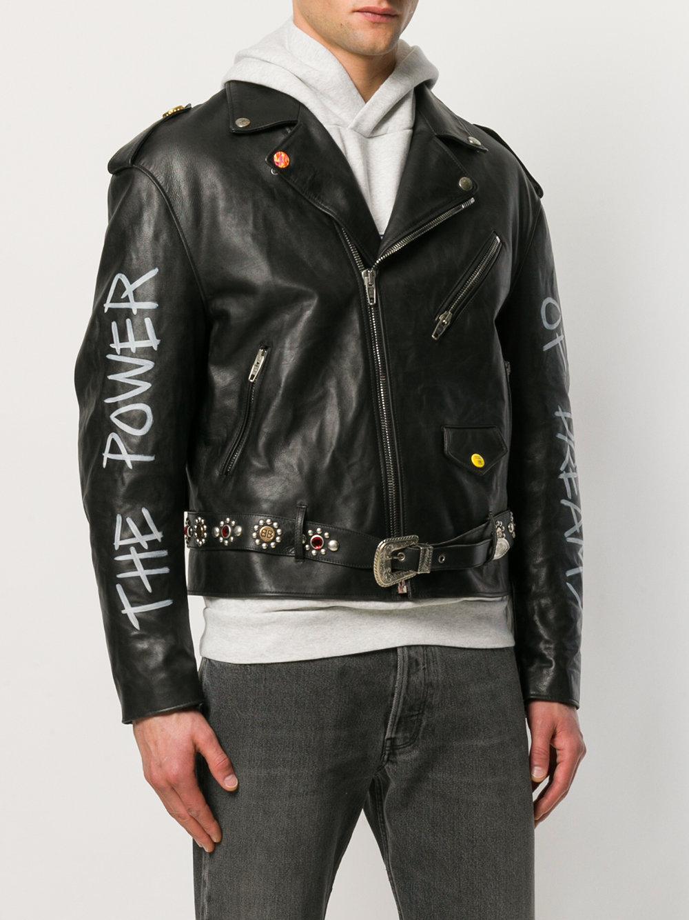 Moto Coloris Veste Balenciaga De Pour Homme Personalized En Noir Lyst EUqgpwAq