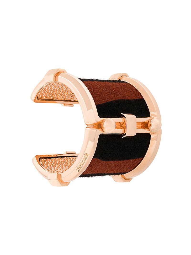 Roberto Cavalli Pony Rock cuff bracelet - Metallic 2qGRkq