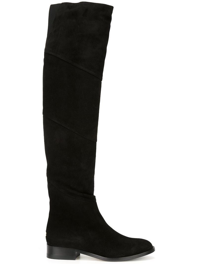 Jimmy chooMarie 100 suede over-the-knee boots HxB89