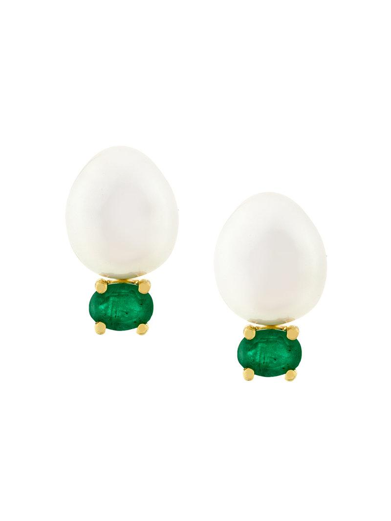 Latest Buy Cheap Purchase 18kt gold and emerald stud earrings - Metallic Wouters & Hendrix Free Shipping Online Great Deals 9xQQNAoY
