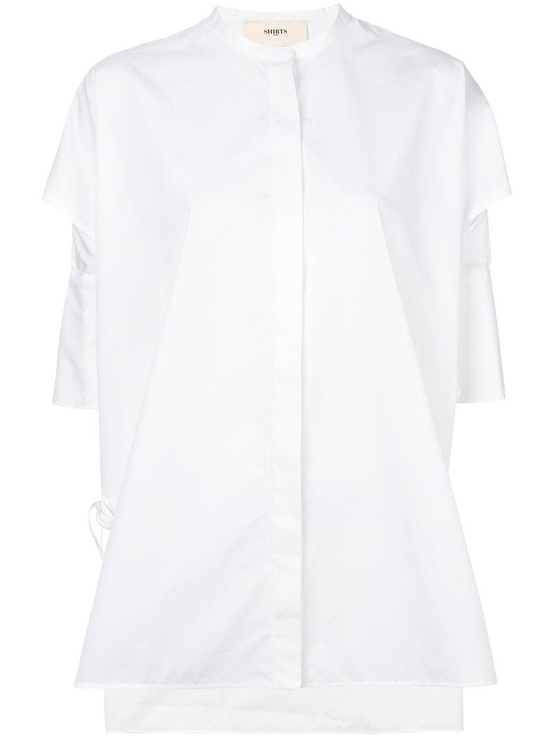oversized ruched-sleeve blouse - White Ports 1961 Clearance Real Get Authentic Online Discount Professional yQhQQT4
