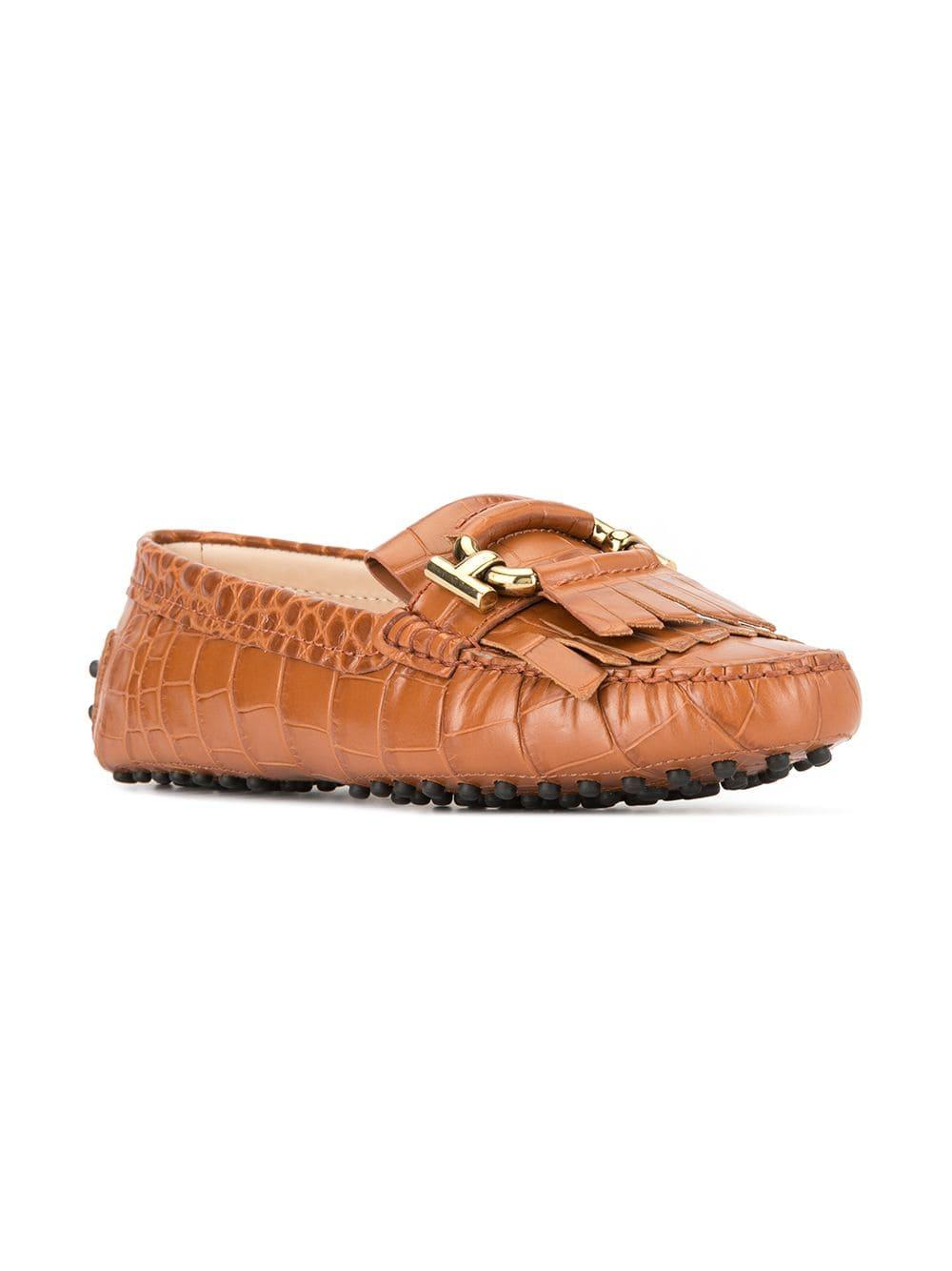 8045501bfde Tod s Crocodile Effect Double-t Loafers in Brown for Men - Lyst