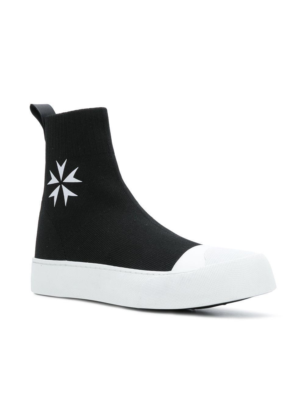 2de37147a2 Lyst - Neil Barrett Sock Skate Hi-top Sneakers in Black