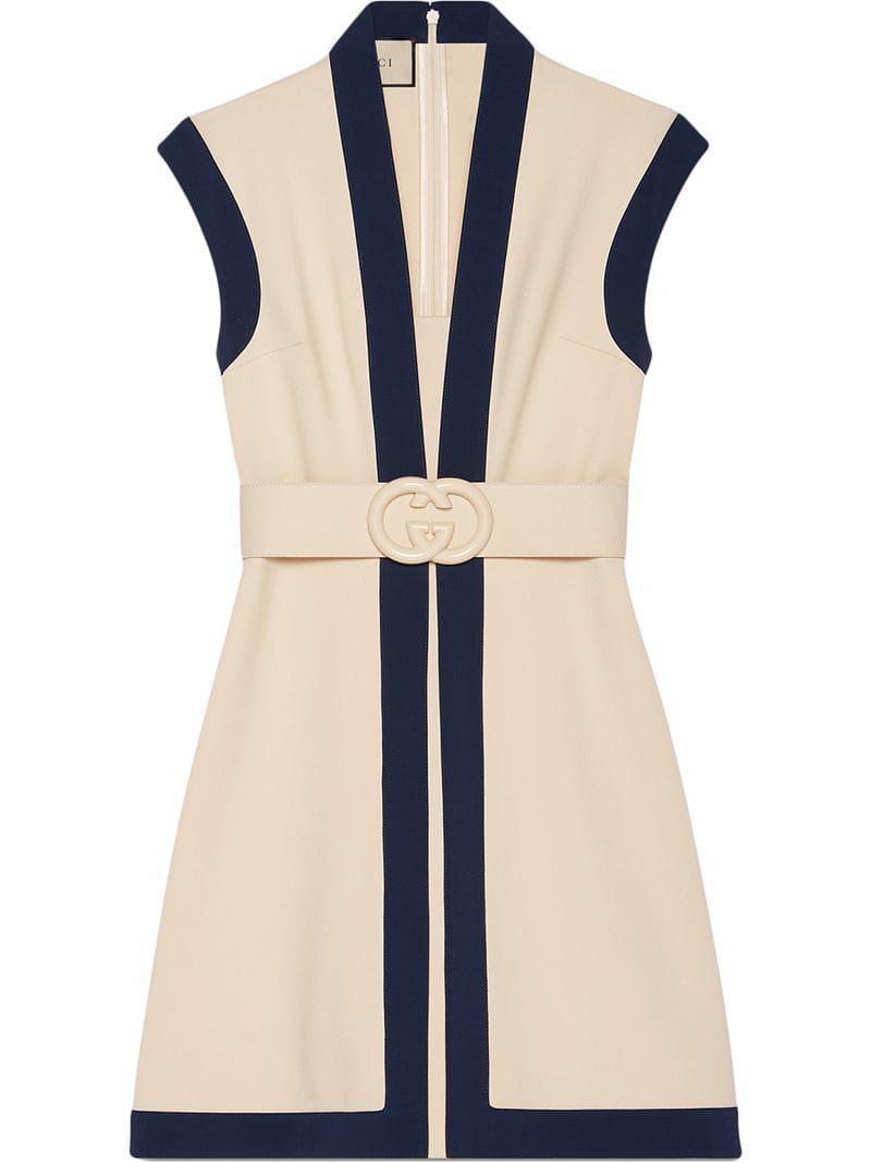 273b80530e4 Lyst - Gucci Viscose Jersey Dress With GG Belt - Save 22%