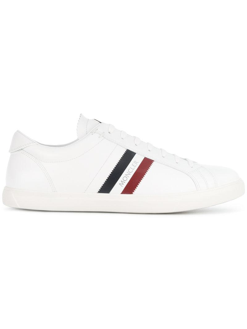 54b7eb2a5 Moncler Low-top Sneakers in White for Men - Lyst