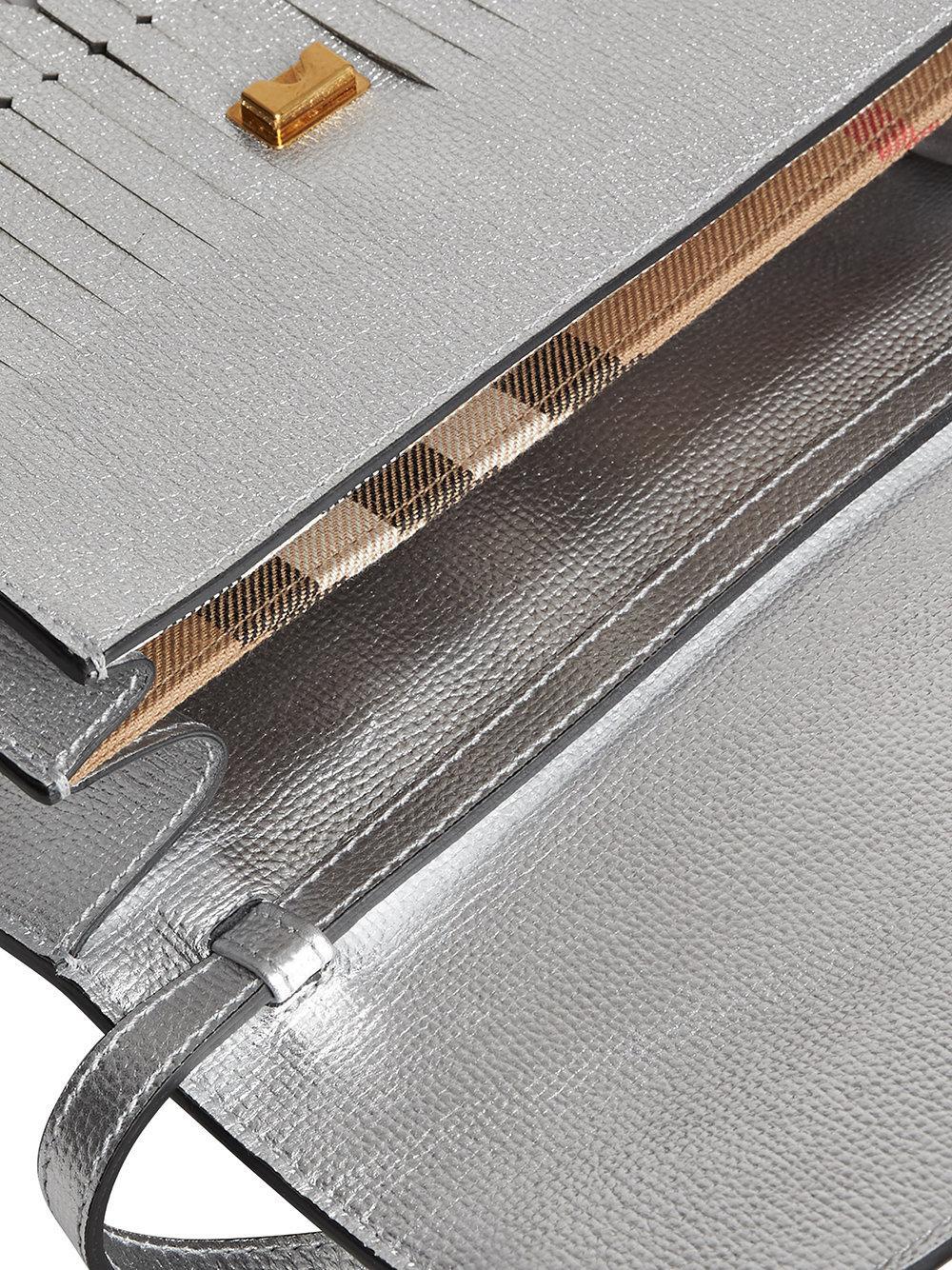 a50512ed1a4a Lyst - Burberry Brogue Detail Crossbody Bag in Metallic